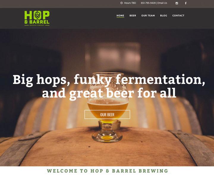 Hop & Barrel Web Design