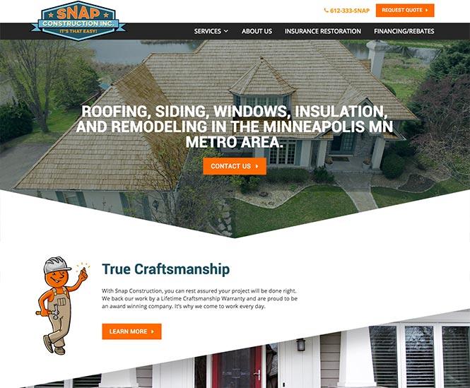 Snap Construction Web Design