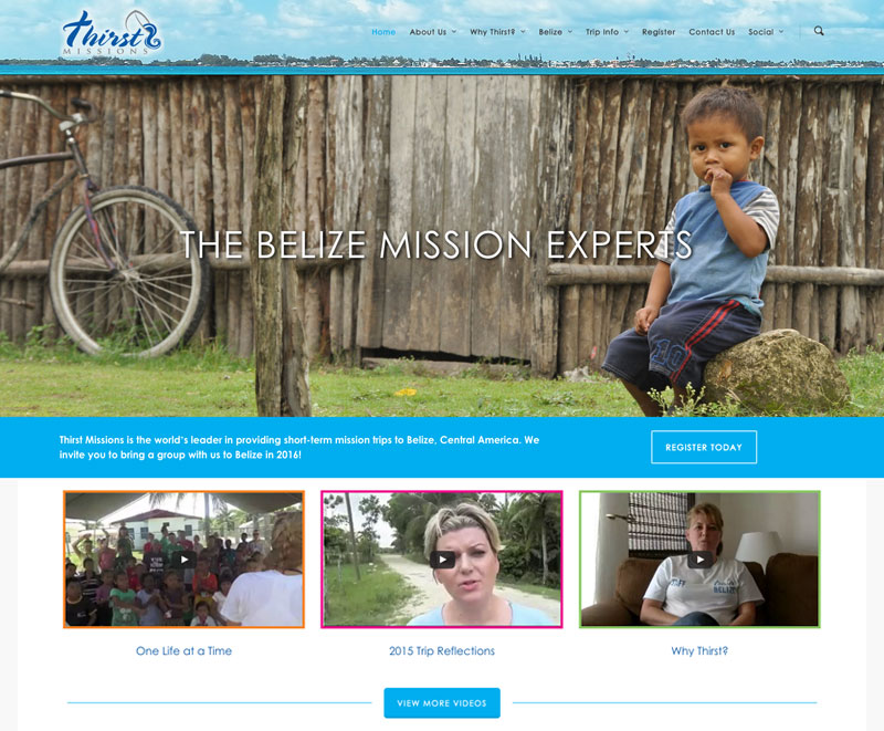 Thirst Missions Website Design/Development